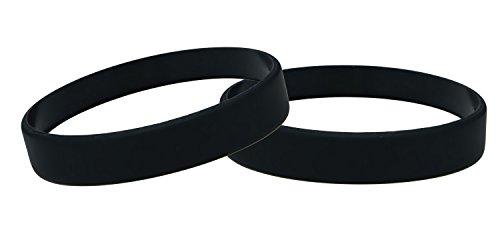 J&R 10, Silikon Armbänder, Händen Gummi Armbänder, Partyzubehör (Schwarz)