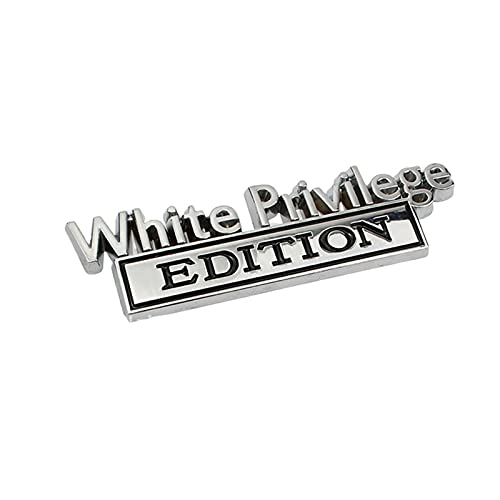 XIHUANNI 3D Letter Adhesive Emblem Badge Stickers, The Original White Privilege Edition Signs Decal, Styling Decor Accessories for Car Motorcycle Truck