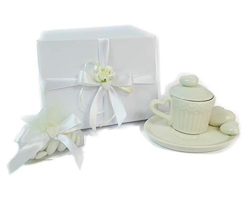 Zelda Bomboniere Bonbonnière Tasse à café Petite Assiette Coeur Porcelaine avec Boîte décorée