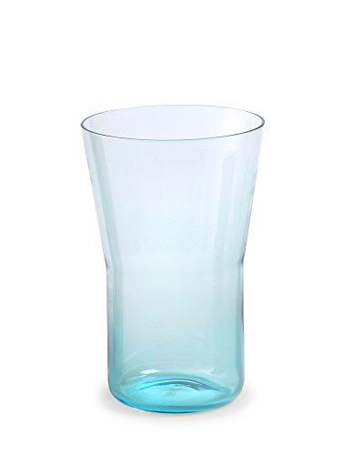 Authentics Piu Vase 20, Verre Soufflé à la Bouche, Bleu Clair, 20 cm, Ø 13 cm, 2818666