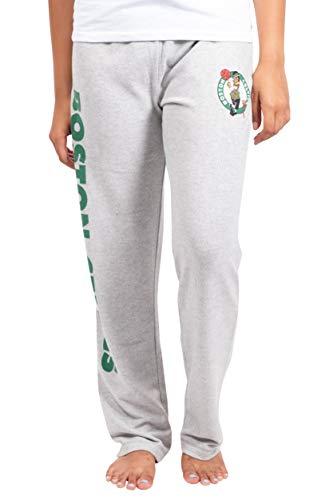 Ultra Game Women's NBA Sleepwear Super Soft Hacci Pajama Loungewear Pants, Boston Celtics, Heather Gray, Small