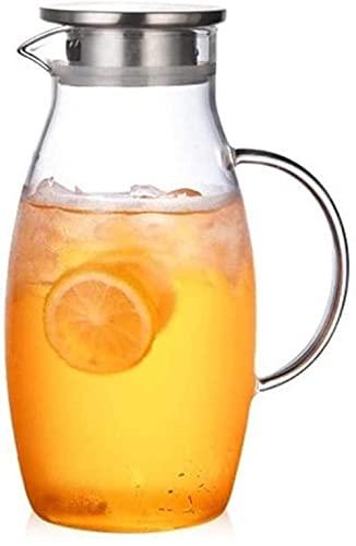 Wohnzimmerzubehör Teekannen Tasse 18 L/Liter Karaffe Wasserkrug mit Deckel Wasserkessel aus Borosilikatglas Hitzebeständigkeit Saftbehälter Kanne Glaskanne für heißen Kaffee geeignet (Einzelkanne