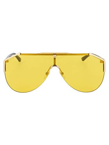 Gucci Luxury Fashion Uomo GG0584S004 Giallo Metallo Occhiali Da Sole | Stagione Permanente