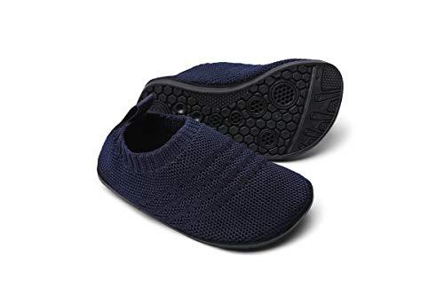 Sosenfer Calzini Pantofole da Casa Bambini Scarpe Interne a Maglia Antiscivolo per Ragazzi Ragazze Slipper Kids Unisex-SHLAN-22