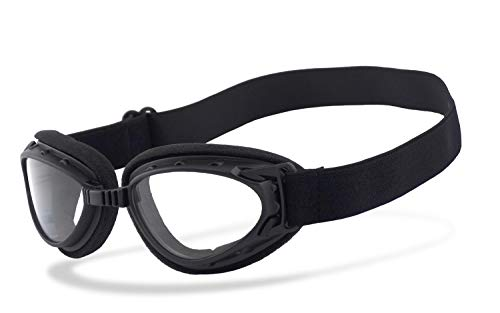 Helly® - No.1 Bikereyes® | Motorradbrille, Bikerbrille | beschlagfrei, winddicht, HLT® Kunststoff-Sicherheitsglas nach DIN EN 166 | Vintage, Retro, Classic, Flieger, Helm, Chopper, Harley | Brille: hur.