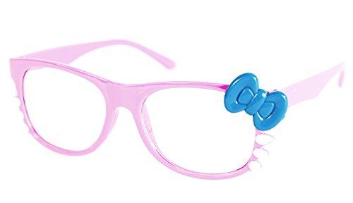 NERD-bril Kitty zonder zesdikte, dames vensterglas carnaval carnaval roze blauw panto-bril wayferer hoorn-bril feestbril