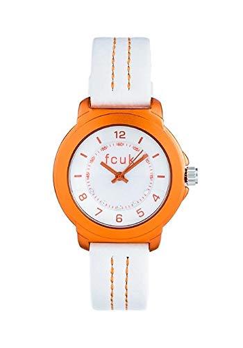 French Connection Damen Analog Quarz Uhr mit Leder Armband FC1151O