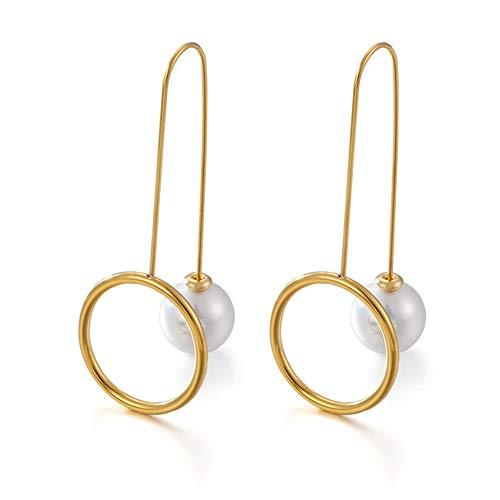 AWQREJ Frauen-Ohrringe, personifizierte einfache schicke Ohrstecker für Mädchen, Gold