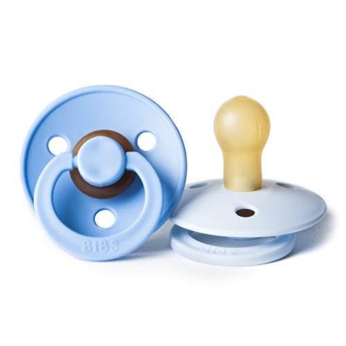 Bibs Chupete de caucho natural sin bisfenol A (BPA) para bebés, fabricados en Dinamarca, 2 unidades