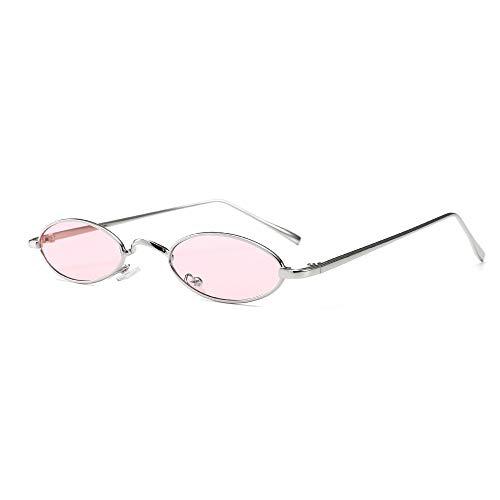 ProCo Vintview 700 - Gafas de sol retro ovaladas vintage, unisex, gafas de sol tintadas - Gafas de sol vintage - Gafas de sol retro con marco de metal plateado delgado