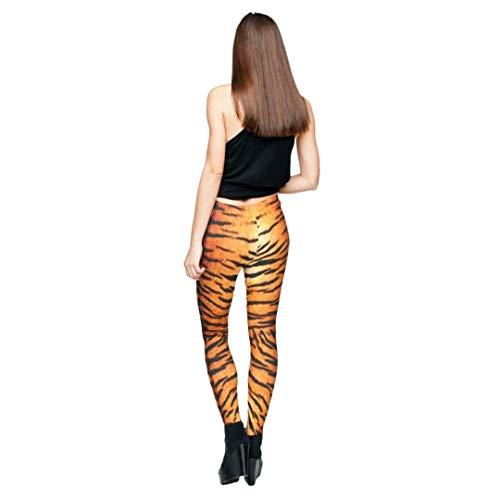kukubird Printed Patterns Women's Yoga Leggings Gym Fitness Running Pilates Tights Skinny Pants 8 to 12 Stretchable - Tiger Fur