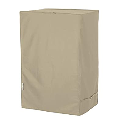Unicook Electric Smoker Cover, Vertical BBQ Smoker Cover, Outdoor Heavy Duty Waterproof Barbecue Grill Cover for Masterbuilt 40 Inch Electric Smokers and More, 25''W x 17''D x 39''H, Desert Sand