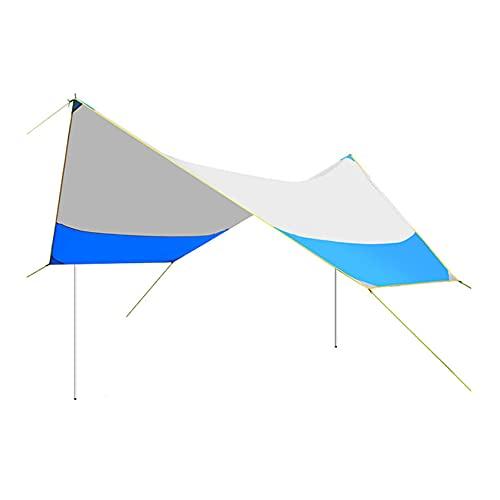 RUIVE Lona para Acampar Impermeable, Lona Hexagonal, Protección UV Carpa Multifuncional Refugio contra La Lluvia, Portátil Impermeable A Prueba De Sol para Acampar Senderismo Pesca Picnic