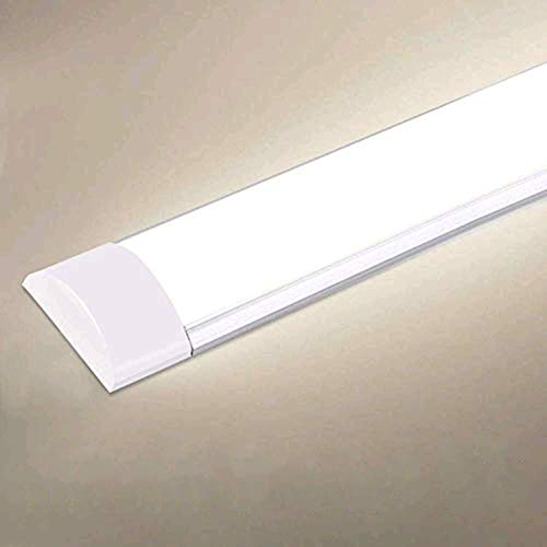 20W LED Deckenleucht Röhre 60CM,LED Feuchtraumleuchte Natürliches Weiß 4000K,2400LM 130°Abstrahlwinkel für Badzimmer Wohnzimmer Küche Garage Lager Werkstatt
