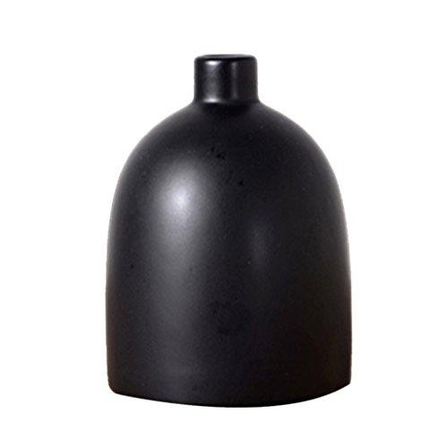 Moderne Deko Vase Blumenvase aus Keramik, Nordische Tischvase - Schwarz