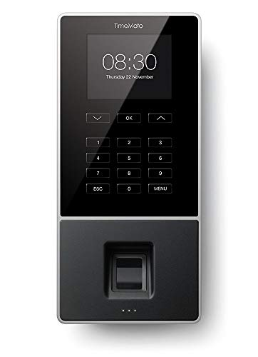 TimeMoto TM-626 - Time clock with fingerprint and RFID reader for up to 200 users - Including employee management software - 125-0586
