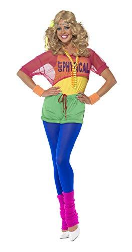 Smiffys Costume fille sportive, avec body, haut court, short et bandeau