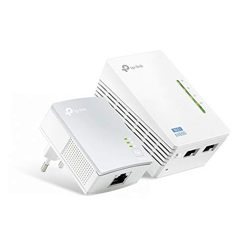 TP-Link TL-WPA4220 Kit Powerline WiFi, AV600 Mbps su Powerline, 300 Mbps su WiFi 2.4 GHz, 2 Porte Ethernet, Plug and Play, WiFi Clone, HomePlug AV (Kit Contiene 1 Ricevitore e 1 Extender)