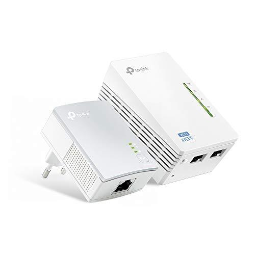 TP-Link TL-WPA4220 KIT AV600 WLAN N300 WiFi Powerline (max. 600Mbit/s Powerline, max. 300Mbit/s WLAN 2,4GHz , Plug und Play, kompatibel zu allen Powerline Adaptern, 2er Set) weiß