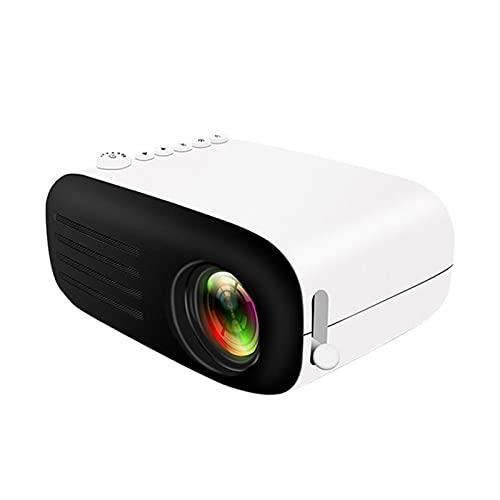 LXLTL Proyector, Mini Proyector Portátil Compatible con SD, AV, HD, USB, Auriculares, Puerto De Alimentación Proyector De Cine En Casa,Negro