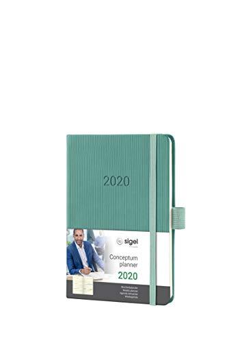 SIGEL C2071 Agenda semanal 2020 Conceptum, tapa dura, 10,8 x 15,1 cm, verde oscuro