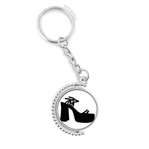 DIYthinker Mannen Zwart Vrouwen Hoge Hakken Silhouette Patroon Draaibare Sleutelhanger Ring Sleutelhouder 1,2 inch x 3,5 inch Multi kleuren