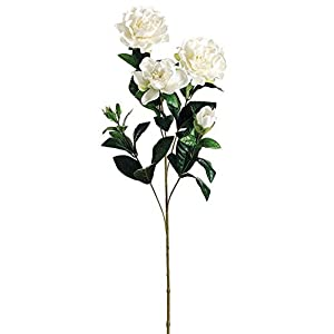 27″ Gardenia Artificial Flower Spray (White Cream)