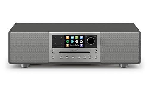 sonoro MEISTERSTÜCK Kompaktanlage mit CD Player, Bluetooth und Internetradio (Stereoanlage, FM, DAB Plus, Spotify, Amazon, Tidal, Deezer) Matt Graphit