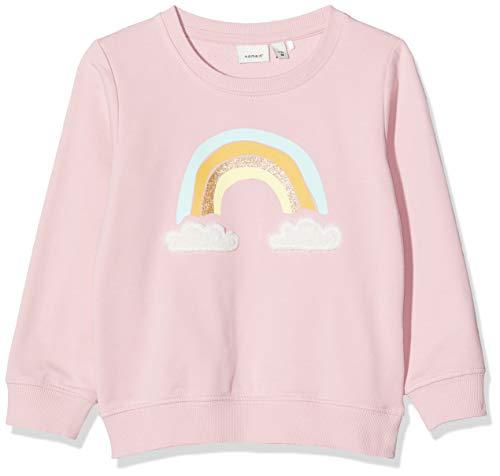 NAME IT Baby-Mädchen NMFTALUKA LS SWE UNB Sweatshirts, Rosa (Pink Nectar), 98