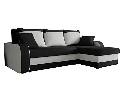 Ecksofa Kristofer Lux, Eckcouch Couch! mit Schlaffunktion, Zwei Bettkasten, Farbauswahl, Wohnlandschaft! Bettfunktion! Design L-Form Sofa! Seite Universal! (Porto 36 + Porto 31.)