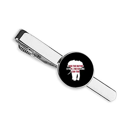 Quando L'acquisto si ferma L'uccisione può troppo cravatta cravatta cravatta clip Bar regalo uomo d'affari