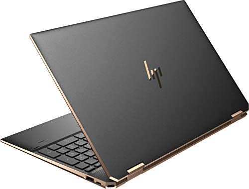 HP Spectre X360 13.3-inch 4K UHD Touchscreen 512GB SSD + 32GB Optane 4.2GHz 11th Gen i5 (8GB RAM, i5-1135G7, Windows 10 Home, Intel Iris XE Graphics) Nightfall Black, 13-aw2003dx