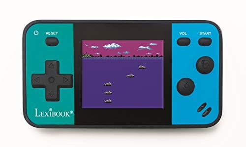 """Lexibook JL1890 tragbare Spielekonsole Cyber Arcade Mini 8-Spiele, 1,8\"""" / 4.5 cm Farb-LCD-Bildschirm, Videospiele für Teenager, blau/schwarz"""