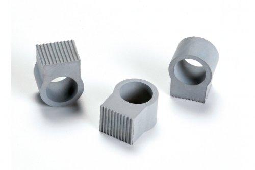 Türstopper / Türgriff - Puffer und Fenstergriff - Puffer im 3er Set, grau - einfache Anbringung, große Wirkung!