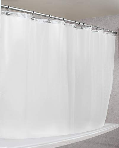 EPICA Strongest Mildew Resistant Shower Curtain Liner on The Market-100% Anti-Bacterial 10 Gauge Heavy Duty Liner-Waterproof-72x72 Inches (White)