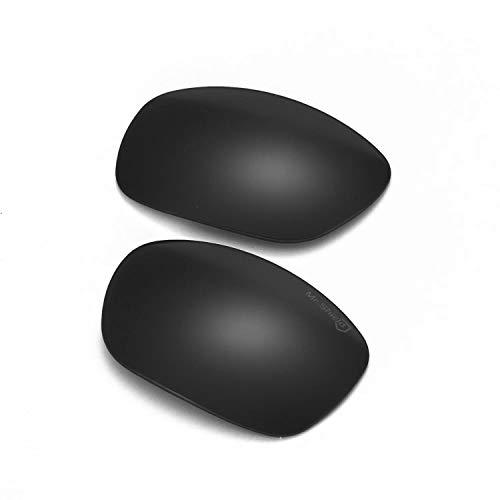 Walleva Ersatzgläser für Oakley Ten Sonnenbrillen – 10 Optionen erhältlich (schwarz – Mr. Shield polarisiert)