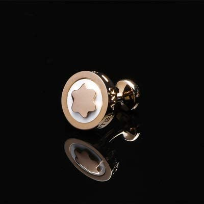 SuoSuo LZWJD FLEXFIL Shirt Cufflinks for Men's Brand Cuff Buttons Cuff Links gemelos Round Wedding abotoaduras Jewelry (Metal Color : Rose Gold)