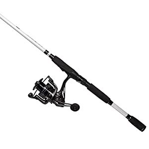 Cadence CC5 Spinning Combo Lightweight with 24-Ton Graphite 2-Piece Graphite Rod Carbon Fiber Drag System Smooth Strong Carbon Composite Frame & Side Plates Reel & Rod Combo