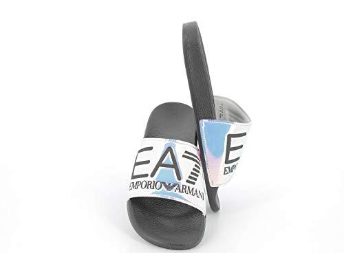 Emporio Armani Slipper VISBILITY Unisex 7 Mirror White Black