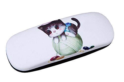 Cuero de pu Concha dura Estuche de gafas Estuche de almacenamiento de gafas Funda protectora para gafas Lindo gato - 08
