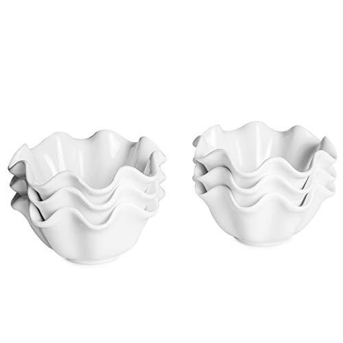 THE CHEF COLLECTION Cuenco de Wonder para salsa y más (juego de 6) pequeño Porcelana blanca 9,7x9,7x4,5 cm