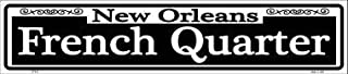 Losea New Orleans French Quarter Metal Street Sign Retro Wall Decor Vintage Tin Signs 16