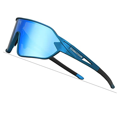 yingying COMAXSUN Gafas de Ciclismo polarizadas Espejo Gafas de Bicicleta Deportes al Aire Libre Anti-UV400 Gafas de Sol de Bicicleta UV 400 con 5 Lentes TR90