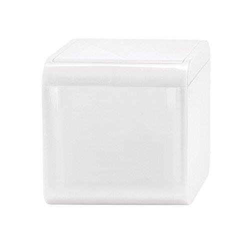 Kleine Wolke Mini Bobby/Volumen 1,5 Liter/Farbe Schneeweiss Kosmetikeimer, Plastik, 12.5x12.5x12.5 cm
