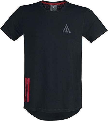 Assassin's Creed T-Shirt Assassin's Creed Odyssey - Tape Men's Longline T-Shirt Black-M