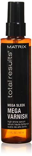 MATRIX Total Results Mega Sleek Mega Varnish High Shine Hair Serum | Lightweight Oil Treatment | For Unruly Hair | 3.1 Fl. Oz.