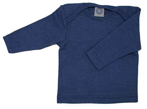 Cosilana Baby Schlupfhemd, Größe 50/56, Farbe Marine, 70% Wolle und 30% Seide kbT