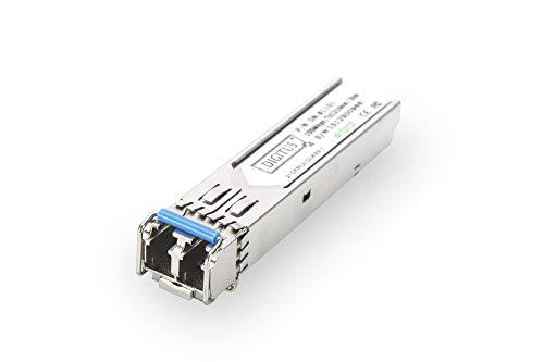 DIGITUS Gigabit SFP Modul, Mini GBIC, Singlemode, LC Duplex, 1310 nm, 20 km, 1.25 Gbit/s
