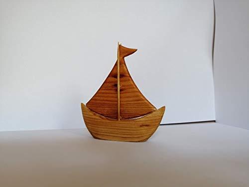 Segelschiff Holzschiff Holzdeko Holzkunst
