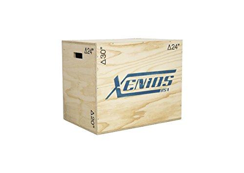 Xenios USA Houten Plyo Box in drie verschillende hoogtes instelbaar, 51/61/76 cm, XSPMBX04